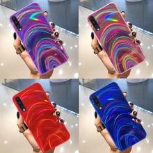 Радуга Мягкий зеркальный чехол для samsung Galaxy A50 A30 A70 A20 A10 M10 S8 S9 S10 плюс A9 A6 A7 Note 8, 9, 10, плюс блестящий чехол