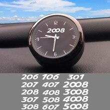 Reloj de cuarzo electrónico para decoración de coche, cronógrafo de alta calidad para interior de coche, modificado, para peugeot 206, 207, 208, 307, 407, 2008, 3008