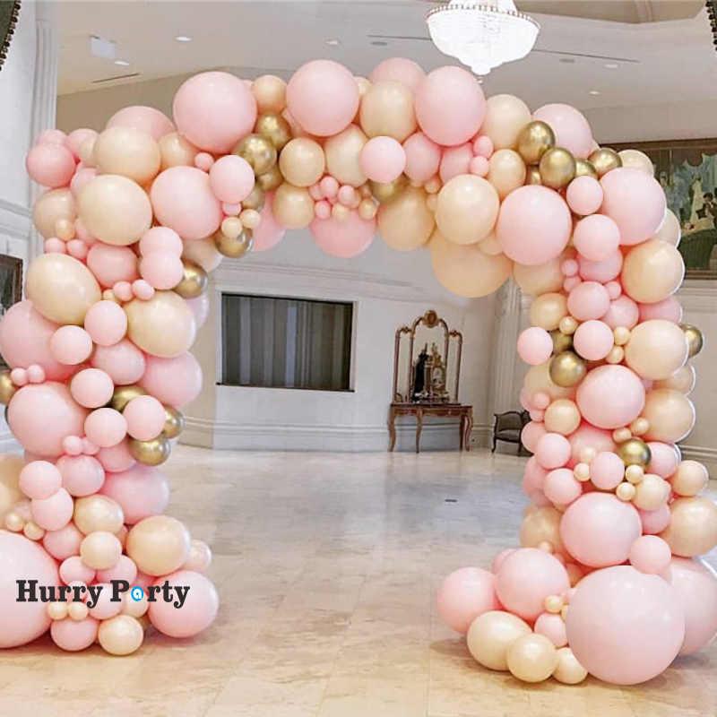 142pcs Macaron Pink Metallic Gold Balloon Decoration Baby Shower Girl 1st Birthday Party Decorations Kids Ballon Wedding Bride Ballons Accessories Aliexpress