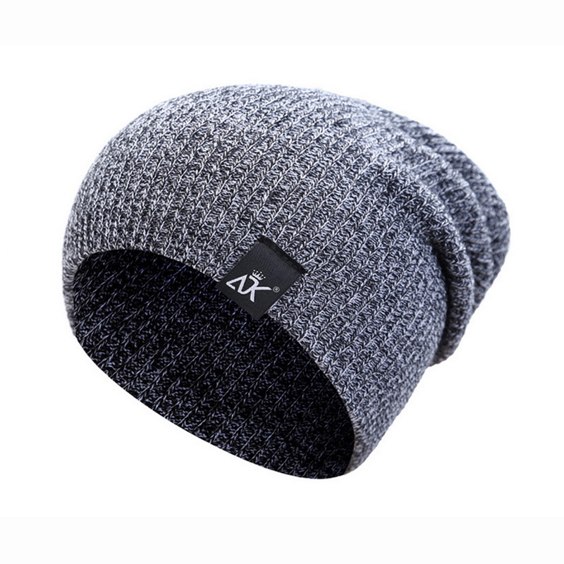 New Winter Women's Hat Striped Knitted Caps Streetwear Candy Outdoor Hip-Hop Wool Autumn Man Winter Wool Cap