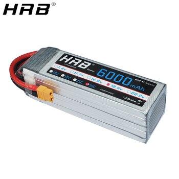 Аккумулятор HRB Lipo 5S, 18,5 в, 6000 мА/ч, 50C, XT60, Deans T, XT90, EC5, XT90-S, AS150, радиоуправляемые вертолёты, литий-полимерные детали FPV для авто