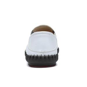 Image 3 - Valstone degli uomini Caldi di vendita di Estate Mocassini 2020 mocassini In Pelle Slip on morbida casual scarpe guida confortevole appartamenti Bianco traspirante