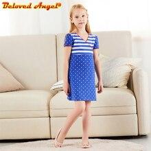 Beloved Angel New 2019 Girls Summer Dress Kids Clothes Girls Party Dress Children Clothing Princess Sweet Girl Dresses 3-8years