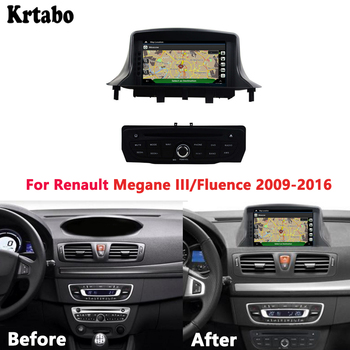 For Renault Megane III/Fluence 2009-2016 smart car HD navigation reversing image recorder support DVD image