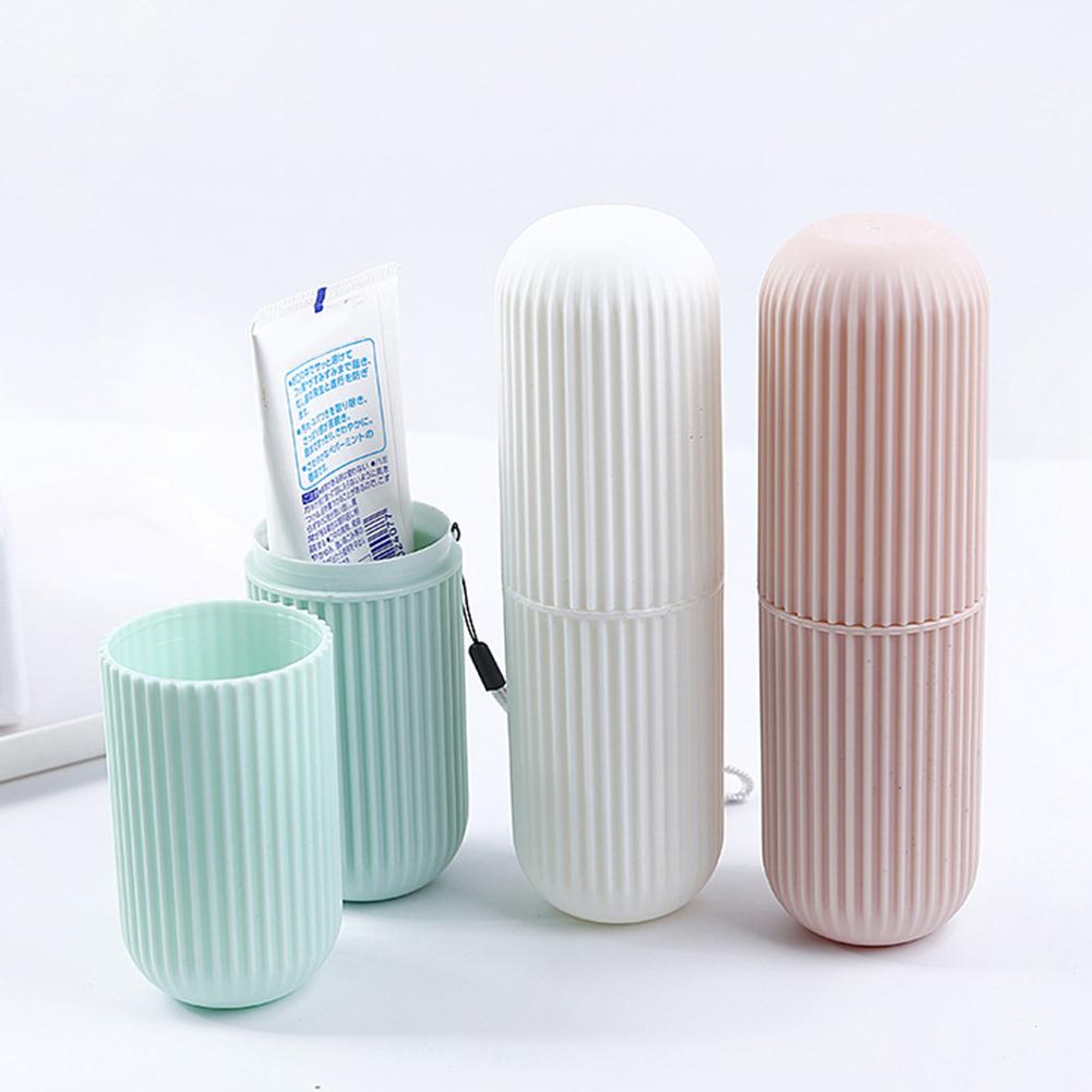 Travel Toothbrush Storage Case Toothbrush Paste Holder Case Covered Tooth Storage Box Travel Camping Bathroom Storage Cases