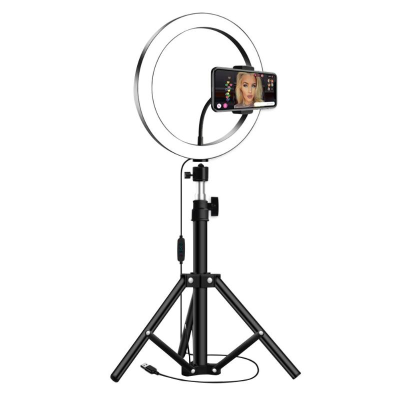 Dimmable 26cm LED Ring Fill Light With 1.2m Tripod For Makeup Video Studio Support Dropshipping