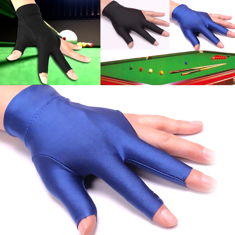 Billiard Cue Gloves Spandex Left Hand Random 1pc Snooker Useful Universal Three Finger Glove Noted Accessory