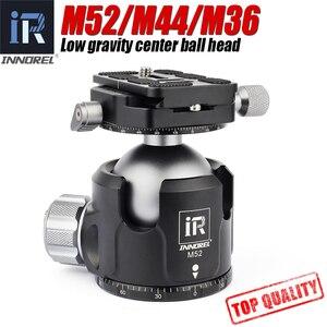 Image 1 - INNOREL M52/M44/M36 ball head panoramic video stand head new low center of gravity aluminum tripod ballhead maximum load 30KG