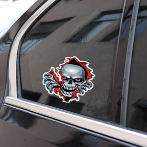 Image 5 - 1PC Red Eyed Skull Computer Stickers PET Vinyl Laptop Skin Sticker Moto Car Suitcase Decoration Decal for MacBook Air 11 13