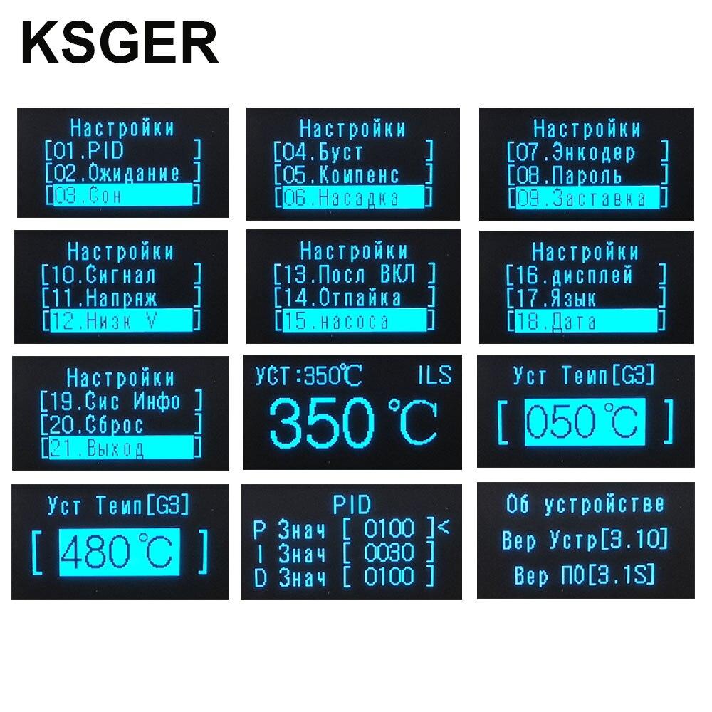 Image 5 - KSGER T12 Soldering Iron Station STM32 V3.1S OLED DIY Plastic FX9501 Handle Electric Tools Quick Heating T12 Iron Tips 8s TinsElectric Soldering Irons   - AliExpress