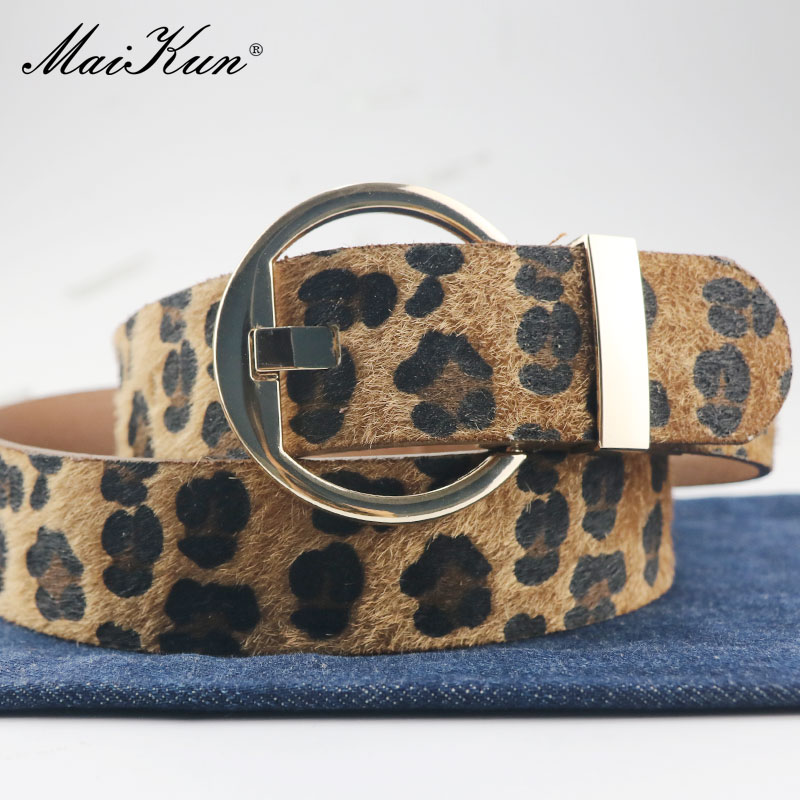 Maikun Belts For Women Belt Female Belts For Jeans Pants Skirt Circle Pin Buckle Leather Belt