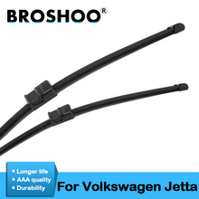 цена на BROSHOO Car Wipers Blades For Volkswagen Jetta A5 A6 Model Year From 2000 To 2017 Fit Standard Hook/Push Button/Side Pin Arms