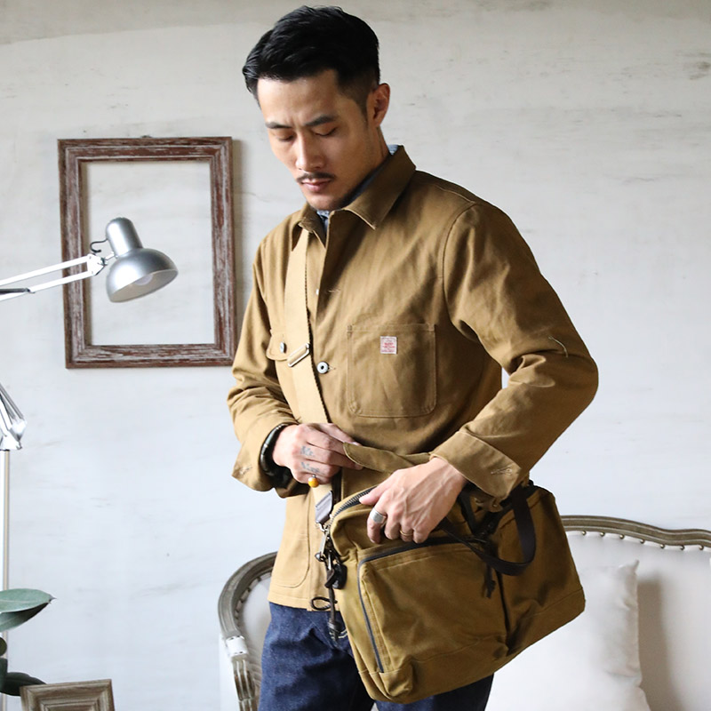 JK-0001 Read Description! Asian Size Very Good Quality Cotton Canvas Wax Water Proof Chore Coat