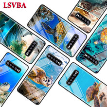 Cute Sea Turtle for Samsung Galaxy Note 10 9 8 Pro S10e S10 5G S9 S8 S7 Plus Super Bright Glossy Phone Case Cover