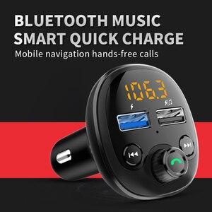 Image 4 - QC 3.0 شاحن سيارة سريع بلوتوث المزدوج USB شاحن الهاتف المحمول سيارة Fm الارسال شحن سريع MP3 TF بطاقة الموسيقى سيارة عدة لاعب