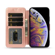 Flip Leather Case For iPhone XS Max XR XS X Crazy Horse Pattern Card Slots Business Wallet Pouch Case For iPhone 7 8 6 6S Plus