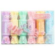 6 шт/компл Симпатичные конфеты форма Хайлайтер с двойной головкой