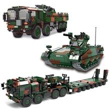 The German Military High-Tech Weapon Army Weasel Infantry Fox Reconnaissance Vehicle MAN KAT1 8x8 Building Blocks Bricks Toys