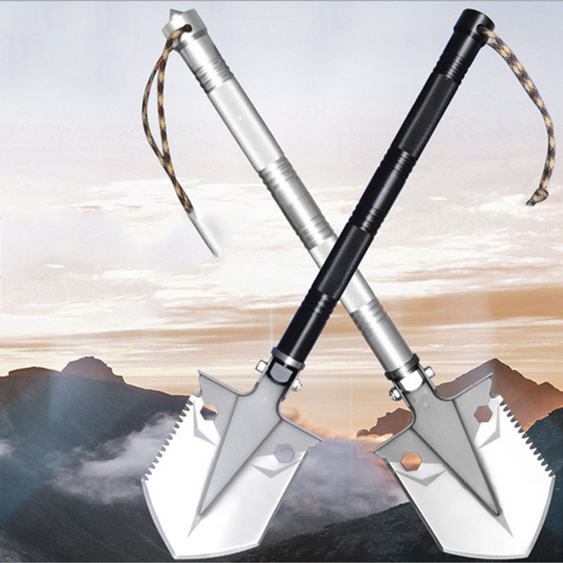 Multifunction Shovel Outdoor Hiking Travel Tactical Survival Camping Spade Gardening Tools Snow Shovels Folding Knife Pickaxe