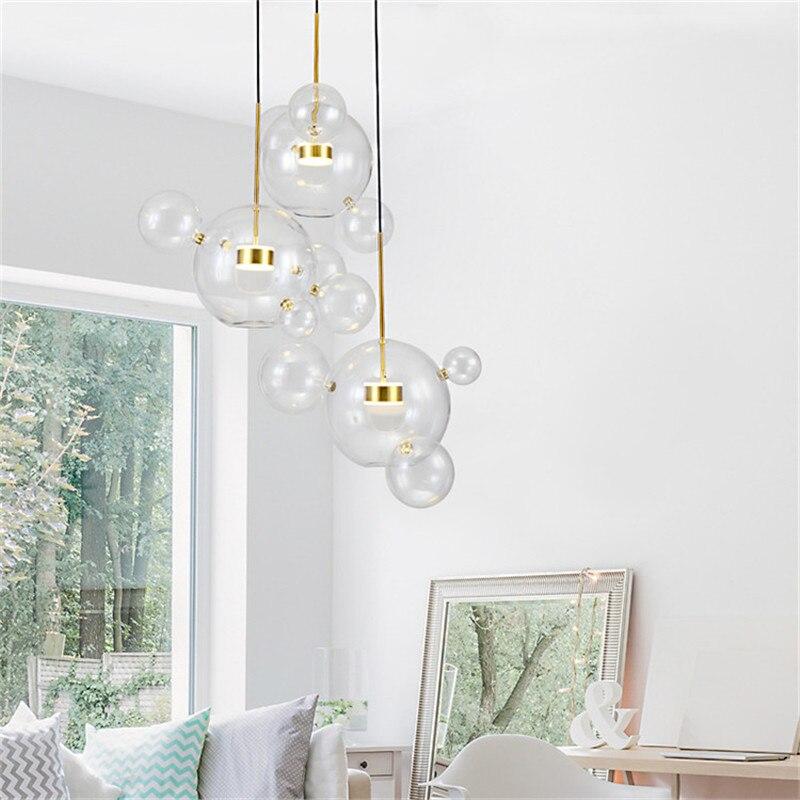 Купить подгонянная люстра для гостиной современный из прозрачного стекла