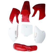 Carenado de guardabarros de plástico rojo para bicicleta, Kit de carrocería para BBR KLX Pit bike DRZ 110