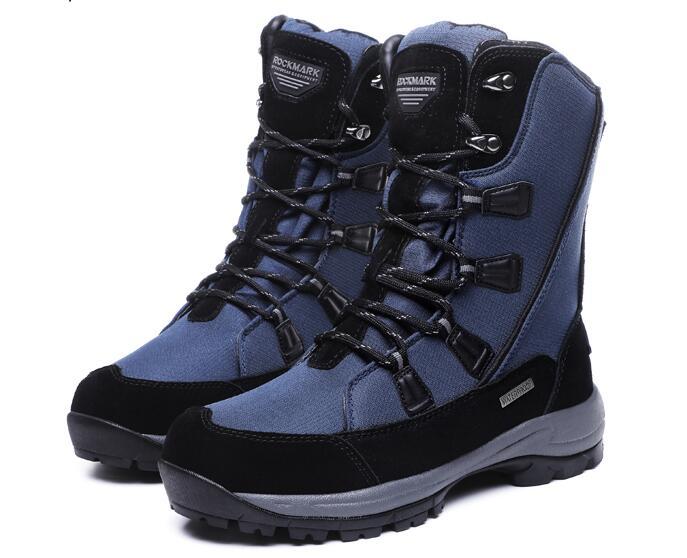 Femmes hiver mode en plein air randonnée bottes dames imperméable à l'eau portable laine liner neige bottes femmes antidérapant neige chaussures for-40c
