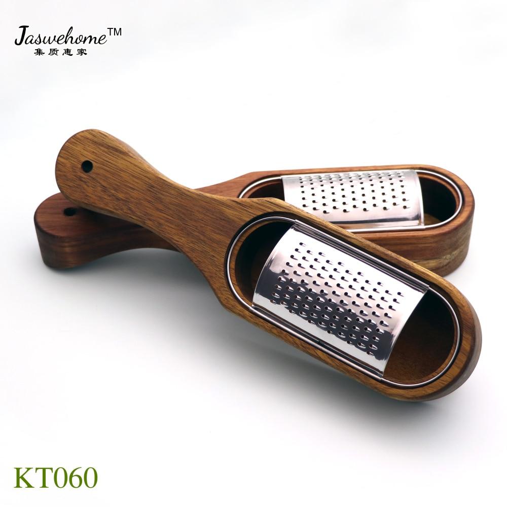 Jaswehome терка для сыра из нержавеющей стали со съемным коллектором из акации, терка для сыра с коробкой, инструменты для сыра, сервер|Терки для сыра|   | АлиЭкспресс - Для кухни