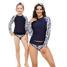 Комплект одежды для купания из 2 предметов мамы и дочки купальники;