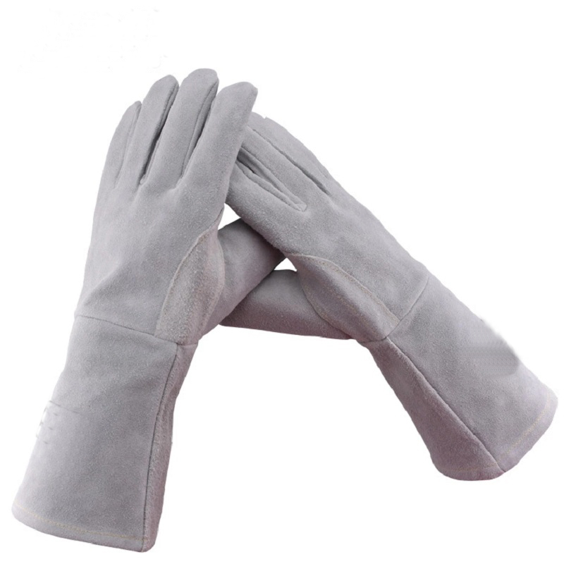 35cm Leather Welding Gloves For Tig Welders/Mig/Fireplace/Stove/BBQ/Gardening/Welding Mask/DIY Wood Working