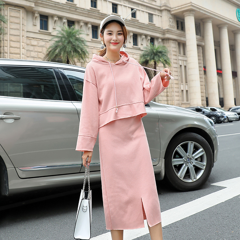 Fashion Loose Sanitary Clothing Sports Autumn Half-length Skirt Two-piece Suit