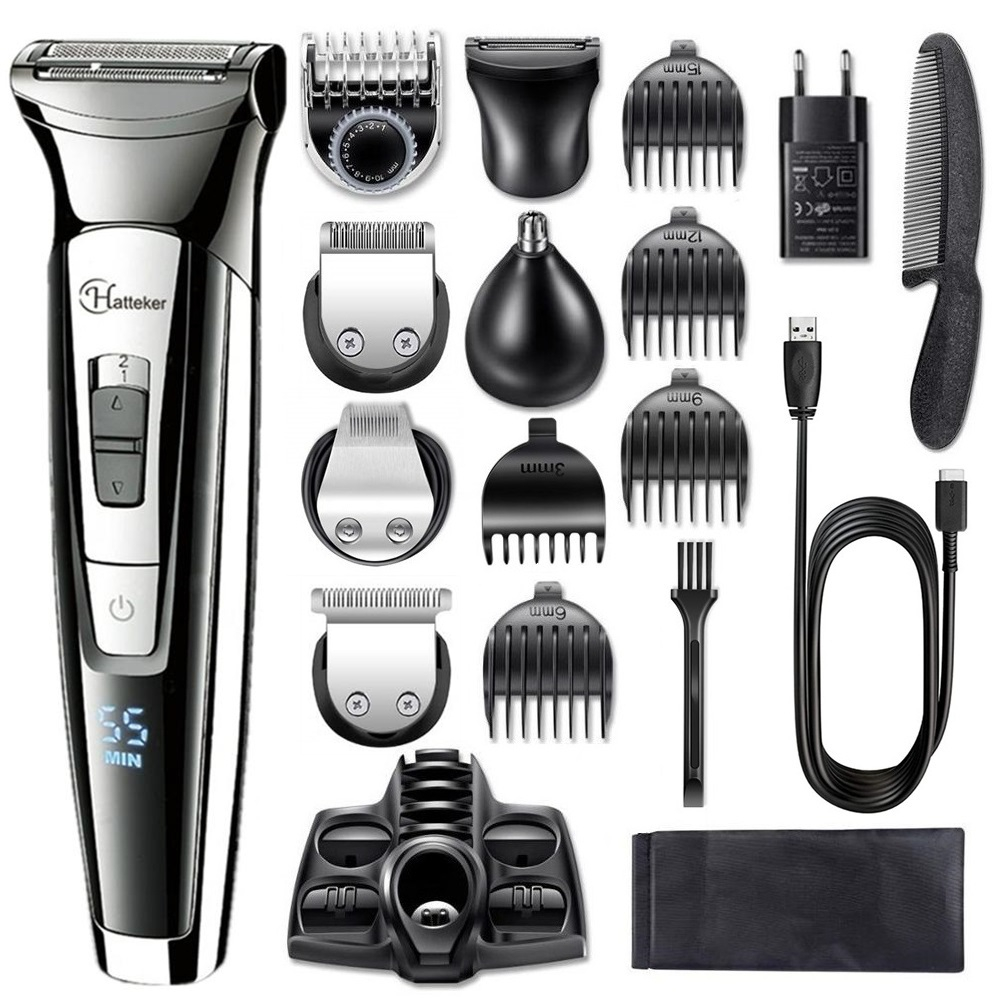 Facial body electric shaver grooming kit hair shaver for men wet dry beard shaving machine all in one electric razor 100v 240v|Electric Shavers| - AliExpress