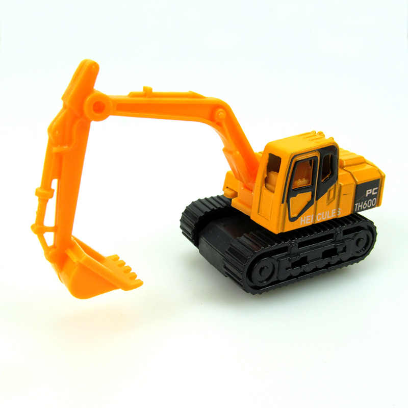 alloy model car toy excavator forklift with road sign 16pcs cars toys engineering truck car Vehicle Model Christmas gift