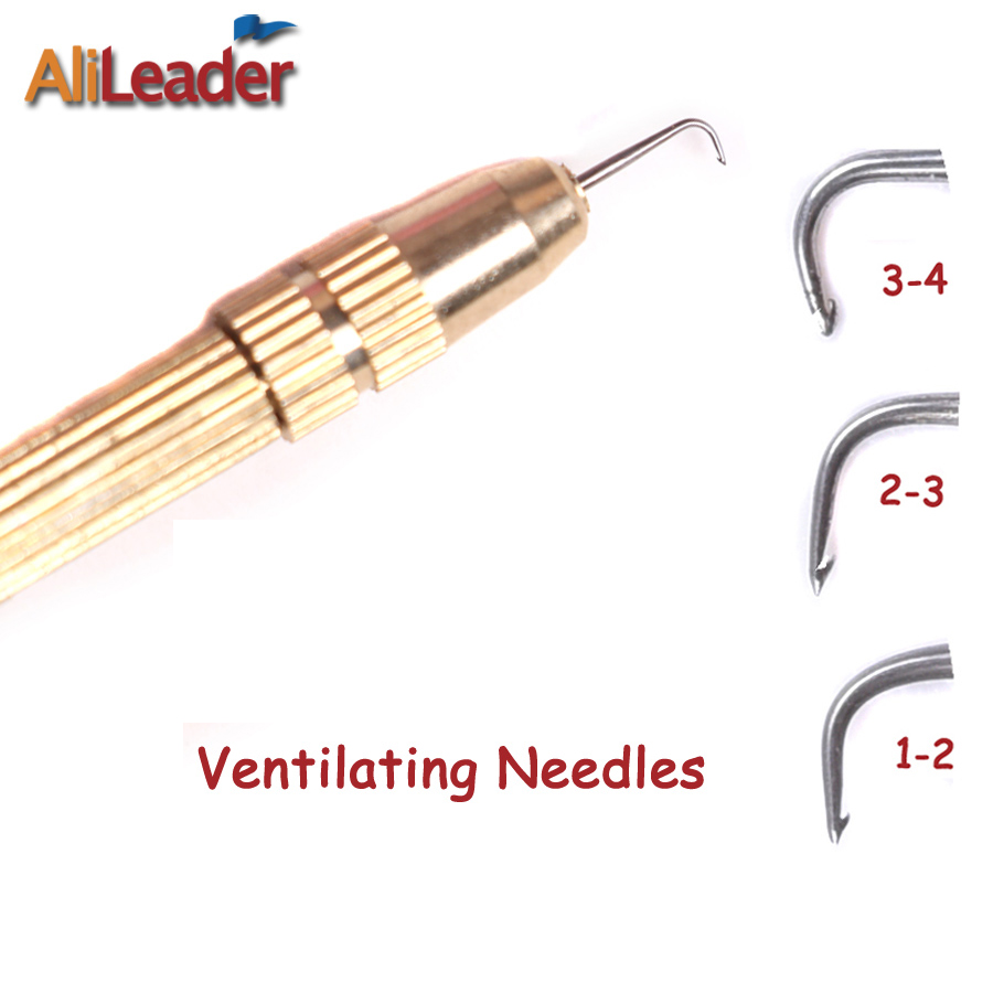 Alileader Cheap Hair Ventilating Needle For Wig Making Crochet Hook Tools 1PC Ventilating Lace Wigs Holder With 3 Pcs Pins