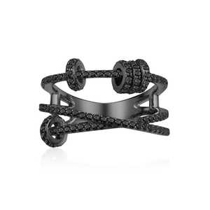 Image 4 - KAKANY הזוהר מסוגנן העתק של גבוהה איכות מקורי קסמי, לשלושה גבוהה סוף טבעת עם טבעת להחליק, עבור נשים של מונקו תכשיטים