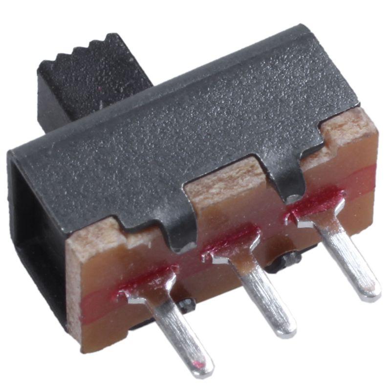 50 PC-ON//auf 2 Position 1P2T SPDT Mini-Panel Schiebeschalter LöTöSe SS12F1 D5Z7