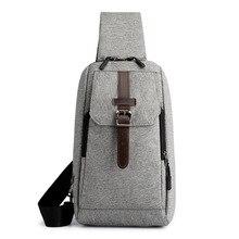 Mens Business Travel Crossbody Bags Korean Styles Solid Color Simple Multifunctional Shoulder Belt Chest Pack for Men