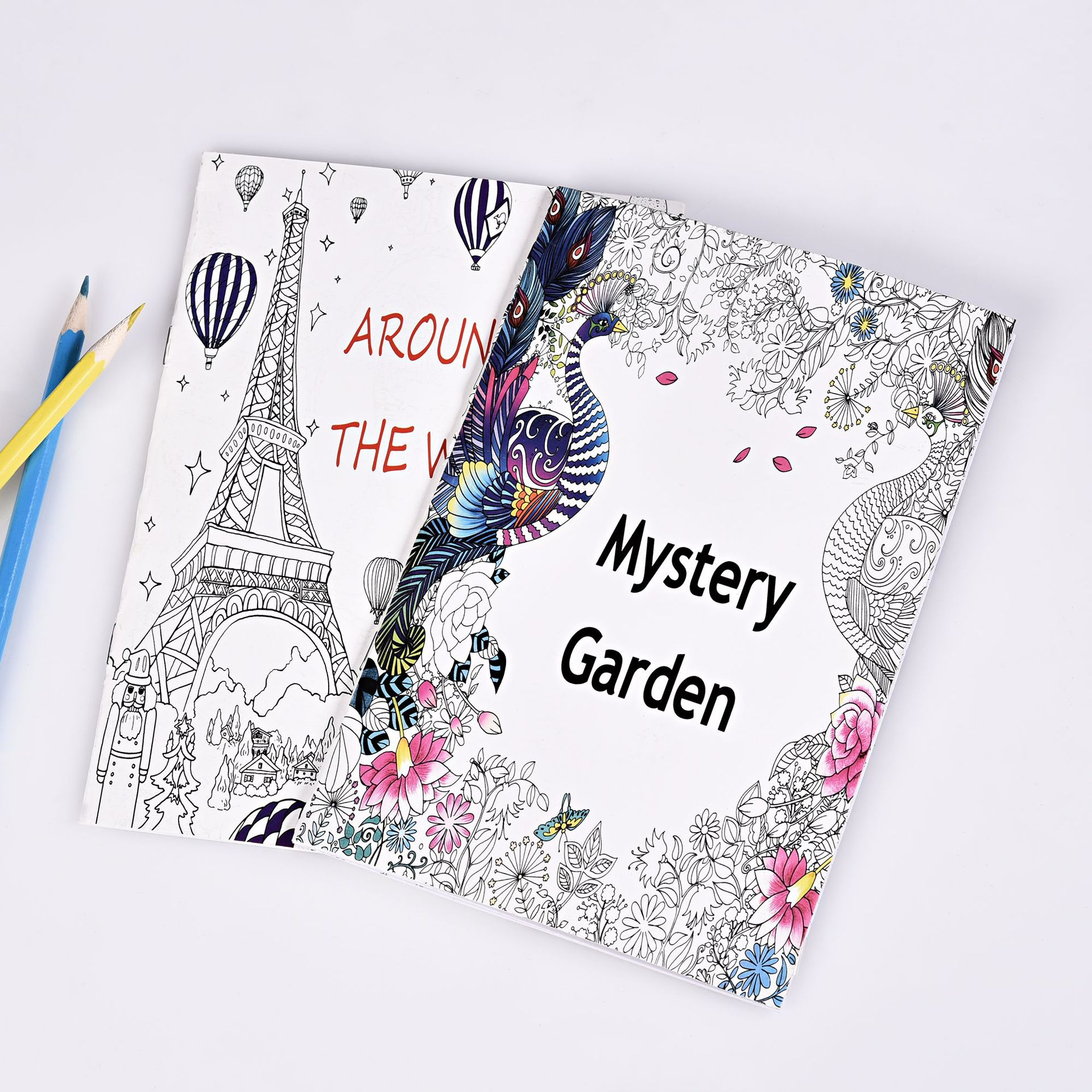 16 Pages Mystery Garden And Around The World Coloring Book Kids Adult  English Edition Drawing Book 21*14cm