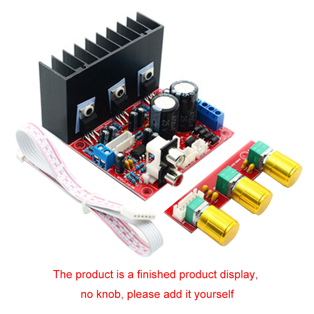 TDA2030A 2.1 Channel Amplifier Board Subwoofer Audio High Power Module Easy Install Computer Accessories HIFI Mini Digital Bass image