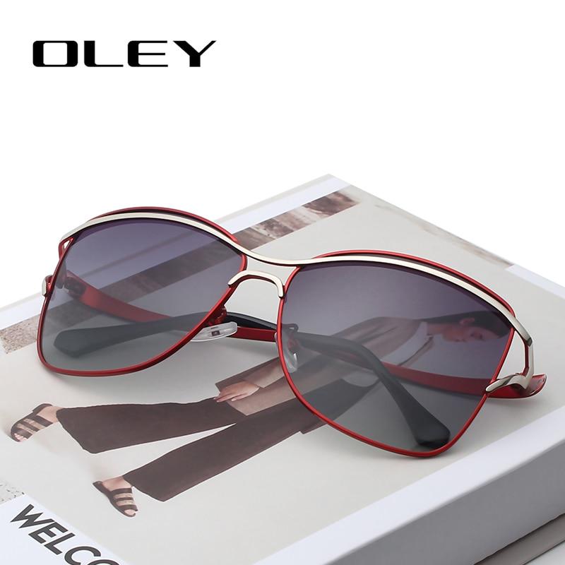 OLEY Sunglasses Butterfly Shades Female Fashion Designer Women Polarized UV400 For Quality