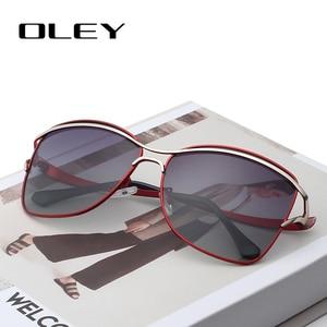 Image 1 - OLEY Brand Designer Big Frame Sunglasses Butterfly Shades For Women Fashion Quality Female Polarized glasses UV400 Y7215