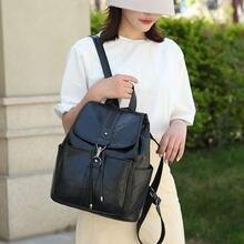 Модные женские сумки на плечо кожаные школьные для девочек студенческие