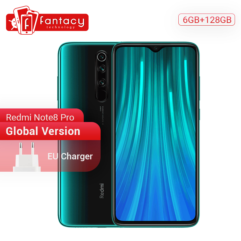 <font><b>Global</b></font> <font><b>Version</b></font> <font><b>Xiaomi</b></font> <font><b>Redmi</b></font> <font><b>Note</b></font> <font><b>8</b></font> <font><b>Pro</b></font> <font><b>6GB</b></font> <font><b>128GB</b></font> Snapdragon MTK Helio G90T 64 MP Quad Cameras 7th Generation QC 18W Charge Phone image
