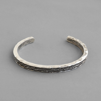 Real 925 Sterling Silver Bracelets Bangles Women CHIC 2020 Unique Vintage Retro Cuff Bracelet For Women Nice 925 Silver Jewelry