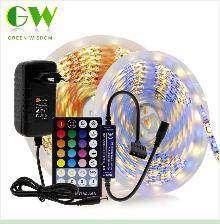 H2a066a567b0c40b886e0251065a04f747 RGB LED Strip Light 5050 2835 DC12V Neon Ribbon Waterproof Flexible LED Diode Tape 60LEDs/m 5M 12V LED Strip for Home Decoration