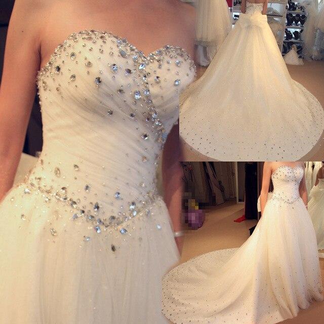 Vestidos De Novia 2019 Rhinestone Wedding Dresses Ball Gown Vintage Wedding Gowns Bridal Dress Robe De Mariage