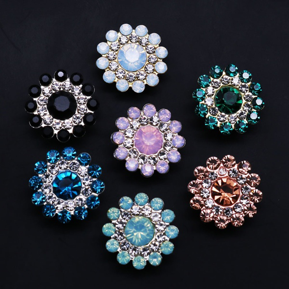 Dedicated 10pcs Flower Rhinestone Buttons Vintage Buttons Apparel Sewing Pearl Hairpin For Wedding Decoration Jewelry Craft