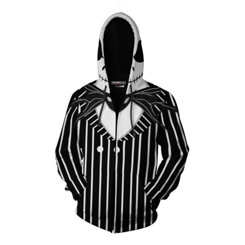 The Nightmare Before Christmas Hoodies Print Jack And Sally Skellington Jackets For Man Women Unisex Sweatshirts Spring Uniform