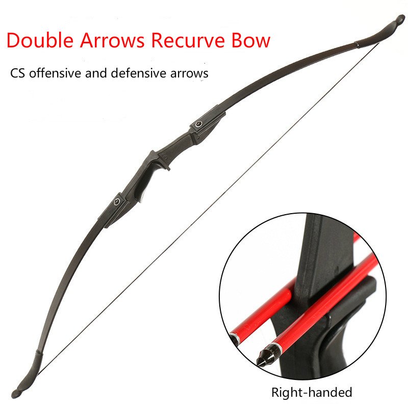 Powerful Recurve Bow 20/30/40Lbs Archery Bow for Right Hand Outdoor Hunting Shooting Traditional Long Bow with Training Takedown image