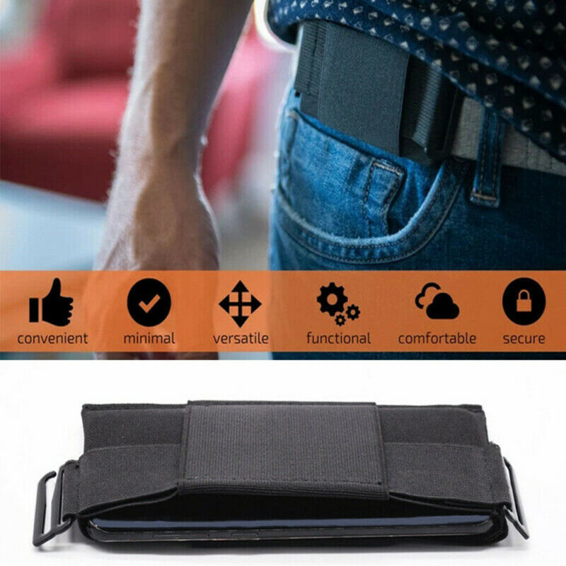 Henreal Waist Bag Minimalist Invisible Wallet Waist Bag Mini Pouch for Key Card Phone Sports Outdoor Wallet