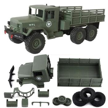 WPL B-16 2.4G Remote Control Military Truck 6 Wheel Drive Off-Road RC Car Model Remote Control Climbing Car Gift Toy